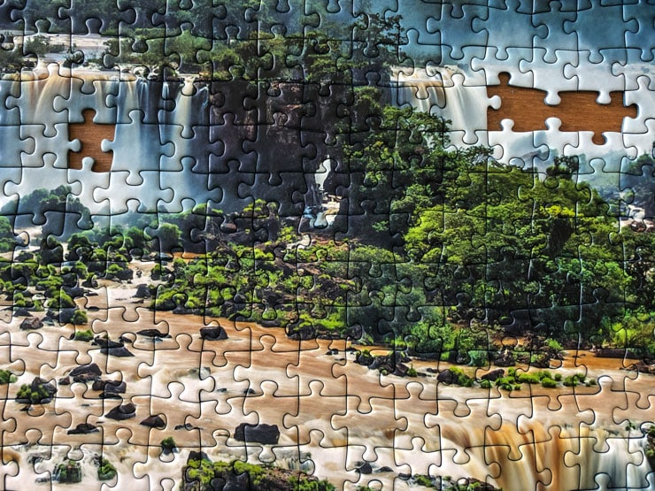 Jigsaw Puzzles Beautiful Scenery of a waterfall