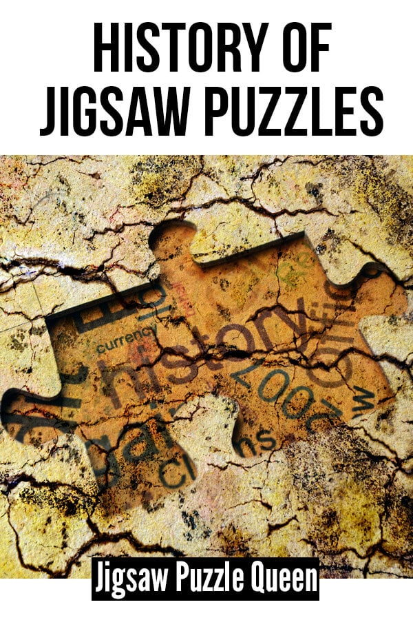 Jigsaw History Concept with text overlay: History of Jigsaw Puzzles