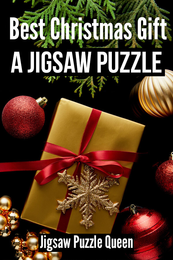 Christmas Puzzles with text overlay: Best Christmas Gift - a Jigsaw Puzzle